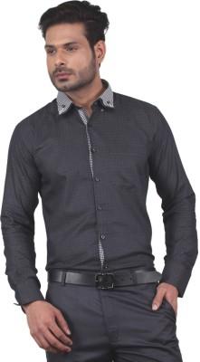 Tabard Men's Checkered Casual Black Shirt