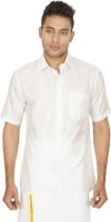 Sarathi Formal Shirts (Men's) - Sarathi Men's Solid Formal White Shirt