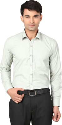 VAPE Men's Solid Casual Green Shirt