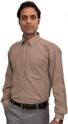 AVS Polo Men's Solid Formal Beige Shirt