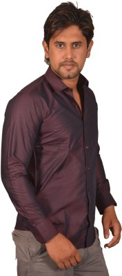 Koridor Men's Solid Formal Brown Shirt