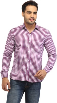 Pede Milan Men's Checkered Casual Purple, White Shirt