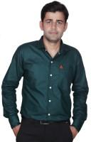 Royal Crown Formal Shirts (Men's) - Royal Crown Men's Solid Formal Dark Green Shirt