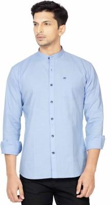 La Seven Men,s Solid Casual Light Blue Shirt