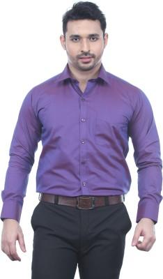 Chill Men's Solid Formal Maroon Shirt