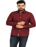 TT Men's Solid Casual Maroon Shirt
