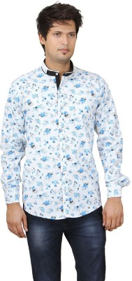 REFUEL SPORT Men's Printed Casual Light Blue Shirt