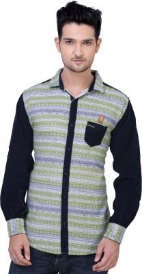 Private Image Men's Printed Casual Multicolor Shirt