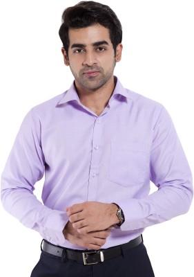 Mild Kleren Men's Solid Formal Purple Shirt