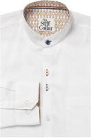 The Stiff Collar Formal Shirts (Men's) - The Stiff Collar Men's Solid Formal White Shirt