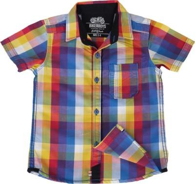 Biker Boys Boy's Checkered Casual Multicolor Shirt
