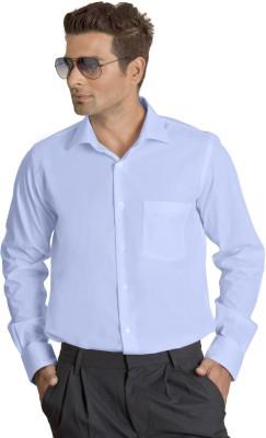 Willmohr Men's Solid Formal Light Blue Shirt