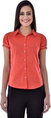 Colors Couture Women's Printed Casual Red Shirt