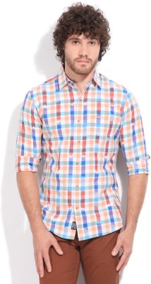 Wrangler Men,s Checkered Casual Multicolor Shirt