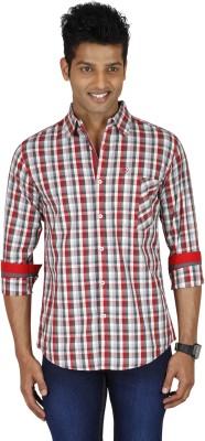 Sleek Line Men's Checkered Casual, Festive, Party, Wedding Multicolor Shirt