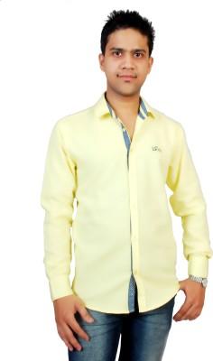 Gayo Fashion Men's Solid Casual Yellow Shirt