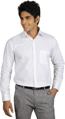 Nexq Men's Solid Formal White Shirt