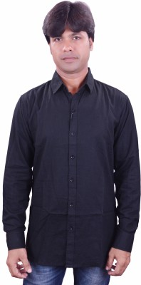 Henry Club Men's Solid Casual Black Shirt