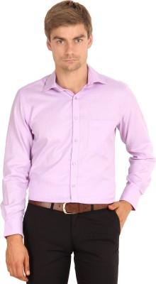 I-Voc Men's Woven Formal Purple Shirt