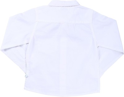 ShopperTree Boy's Solid Casual White Shirt