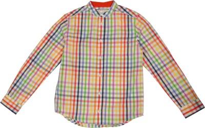 NOQNOQ Boy's Checkered Casual Multicolor Shirt