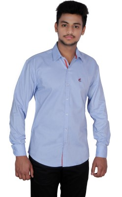 Jevis Men's Solid Casual Blue Shirt