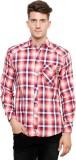 Ebry Men's Checkered Casual Red Shirt