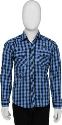 Buds N Blossoms Boy's Checkered Casual Blue, Black Shirt