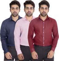 Deekshavastra Formal Shirts (Men's) - Deekshavastra Men's Solid Formal Maroon Shirt(Pack of 3)
