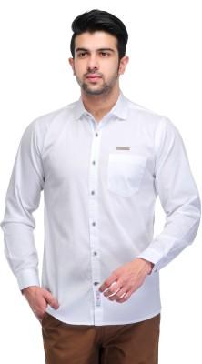 Ranger Men's Solid Casual White Shirt