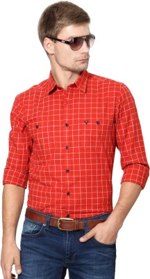 Allen Solly Men's Checkered Casual Red Shirt