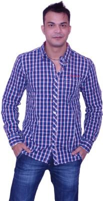 Blue Fox Men's Checkered Casual Multicolor Shirt
