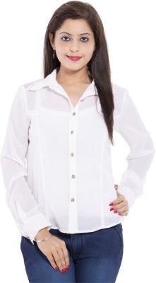 Belomoda Women's Solid Casual White Shirt