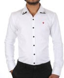 Forty One Fitzroy Men's Solid Casual Whi...