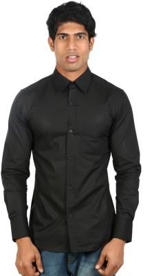 Nimya Men's Solid Casual Black Shirt