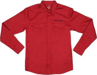 Allen Solly Boy's Solid Casual Maroon Shirt
