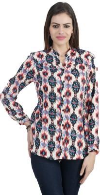 Archiz Women's Printed Casual Multicolor Shirt