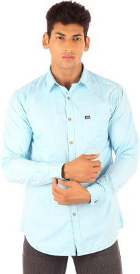 FA French America Men's Solid Casual Light Blue Shirt