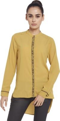 Globus Women's Solid Casual Green Shirt
