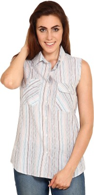 Miss Chick Women's Striped Casual Multicolor Shirt