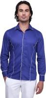 Pret A Porter Formal Shirts (Men's) - Pret a Porter Men's Self Design Formal Blue Shirt