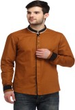 Spawn Men's Solid Casual Brown Shirt