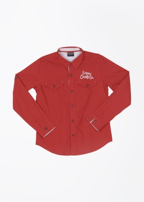 Cherokee Kids Boy's Solid Casual Red Shirt