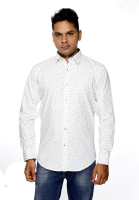 ALBI NYC Men,s, Boy's Printed Casual, Party White Shirt
