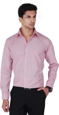 Cocablue Men's Solid Formal Pink Shirt