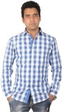 Flying Threadz Men's Checkered Casual Bl...