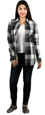Lady Stark Women's Checkered Casual Multicolor Shirt