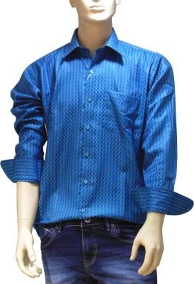 EXIN Fashion Men's Checkered Casual Blue Shirt
