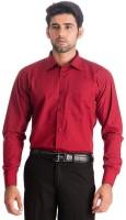 Benzi Formal Shirts (Men's) - Benzi Men's Solid Formal Maroon Shirt