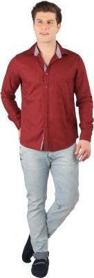 Zoro Auge Men's Solid Casual Red Shirt